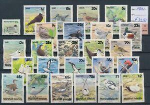LO44962 Marshall Islands 1991 birds animals fine lot MNH cv 32,5 EUR
