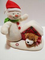 L1 2011 Hallmark Jingle Pals Deck The Halls Duo Singing Snowman Dog Animated