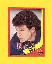 Barry Beck New York Rangers Scarce 1983 McDonalds Quebec Hockey Sticker