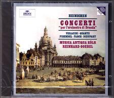 CONCERTI DRESDA Dieupart Heinichen Fasch Veracini Pisendel CD Reinhard GOEBEL