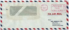 HONG KONG CHINA AIR MAIL Cover METER stamp 1972