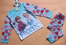 Pyjamas rouge à manches longues pour fille de 2 à 16 ans