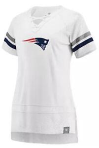 Fanatics Women's New England Patriots White Draft Me Football Jersey Medium M