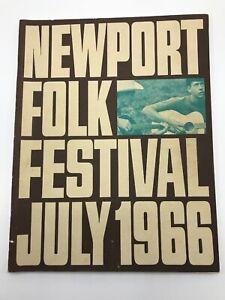 Newport Folk Festival 1966 Program RARE