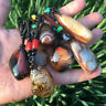 Natural Silk Agate Polished Crystal Quartz pendant Sardonyx Reiki Healing 1pc