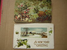 Vintage Postcard New Year Greetings