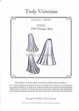 Sewing Pattern for Edwardian 1903 Circular Trumpet Skirt Truly Victorian TVE21