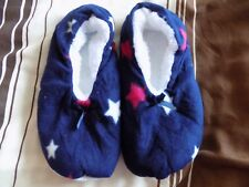 LADIES NEW ONE SIZE FLEECE SLIPPERS