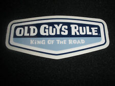 """OLD GUYS RULE """" KING OF THE ROAD """" MOTORHOME TRAILER SURF BEACH DECAL STICKER"""