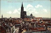 Strassburg Elsass alte Color Postkarte ~1910 Teilansicht vom Spital aus Münster