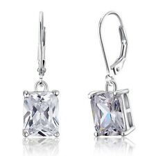 Women Star 4 Carat Dangle Earrings Solid 925 Sterling Silver Fashion Jewelry