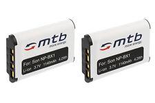 2x Batteria NP-BX1 per Sony Cyber-shot DSC-WX350, HX60, HX60V, H400, HX400V