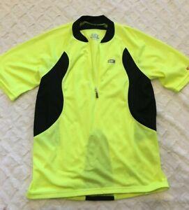 Louis garneau jersey women's Large Yellow Neon short sleeve cycling 21-798