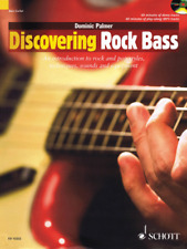 """""""Discovering Rock Bass"""" Music Book/Cd-Brand New On Sale-Method-Instructional"""