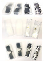 C21 Valued Portabable Plastic Clear Case For Normal/Clip-On Spectacle/Sun-Reader