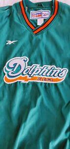 90's MIAMI DOLPHINS Reebok Pro Line  NFL Sweetshirt Jacket Size XLarge