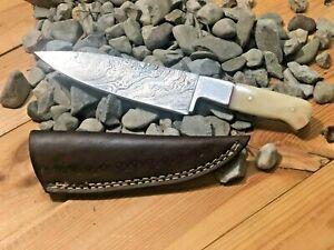 10' MH KNIVES CUSTOM HANDMADE DAMASCUS STEEL FULL TANG CHEF KNIFE MH-307
