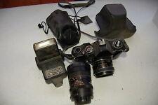 GAF L-17 35mm Film Camera w/Chinon 1:17 + f=135 Lens + Vivitar 273 flash