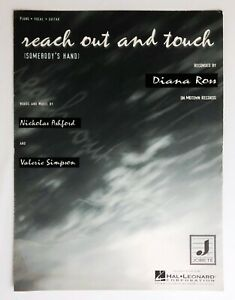 Reach Out Touch Somebody's Hand Diana Ross Sheet Music 1984 Piano Vocal Guitar