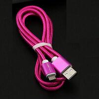 metal Trenzado Sincronización De Datos USB Relámpago Cable Del Cargador