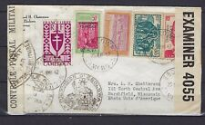 1942 Cameroun Scott 260 & 4 others on WWII censored cover Ebolowa to USA