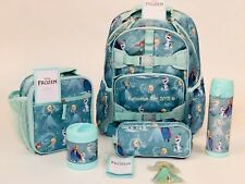 Pottery Barn Kids Disney Princess Frozen Backpack Large Anna Elsa Girls 6 Pieces