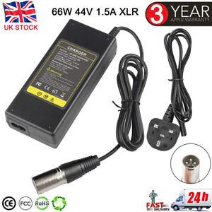 44V 1.5A Battery Charger For 36V Lead Acid Electric Scooter E-Bike Male UK Plug