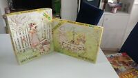 Two Vintage Holly Hobbie Hobby 50 Large Piece Jigsaw Puzzle Arrow Puzzles 1979