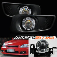 FOR 99-00 HONDA CIVIC COUPE/HATCHBACK/SEDAN EK PROJECTOR FOG LIGHTS DRIVING LAMP
