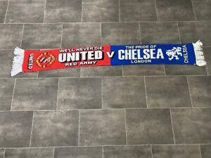 MANCHESTER UNITED V CHELSEA MATCHDAY FOOTBALL SCARF
