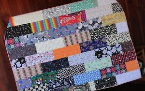 Game Room Quilt, Lap Quilt, Twin/Full Bed Quilt, Word Games, Board Games, Puzzle