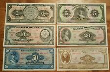 Mexico Lot of 6 Different Uncirculated Banknotes