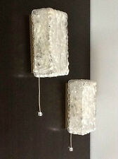 PAIRE APPLIQUES TYNELL LIMBURG 1960 Glass sconce wall light lamp Moderniste 70