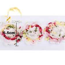 3D Floral Chiffon Flower Tulle Mesh Lace Trim Kid Bridal Wedding Dress DIY Craft