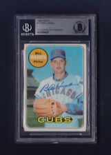 Bill Hands signed Chicago Cubs 1969 Topps BB card Beckett Authenticated