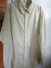 NEW Vintage Brooks Brothers Oxford Shirt Green Stripe  16 1/2 x  5