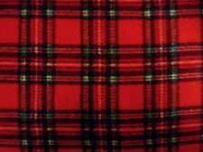 Polar Fleece Tartan Rojo Negro Verde Cuadros Tela Manta Sombrero Tiro Chaqueta
