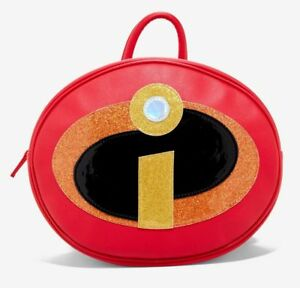 Her Universe Disney Pixar The Incredibles 2 Logo Backpack faux leather NWT