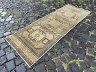 Handmade rug, Runner rug, Turkish rug, Vintage rug, Wool, Carpet   2,1 x 5,8 ft