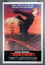 An Eye for an Eye, Chuck Norris Original 1981 Poster