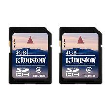 Kingston 4GB Class 4 SDHC Card 4 G GB SD HC Flash Memory Card