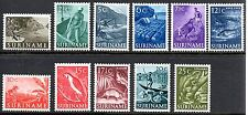 Suriname - 1953-55 Definitives views & animals Mi. 332-42 MNH