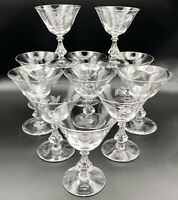 11 Vintage Etched Cut Cordial Dessert Martini Champagne Glasses Sherry Barware