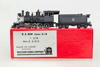 BACKHEAD DETAIL HON3 BRASS C-16 WESTSIDE WSM 2-8-0 # 271 CONSOLIDATION PAINTED
