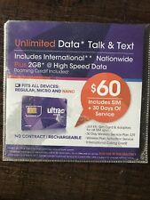 ultra mobile sim card preloaded / FOR USE IN USA ONLY