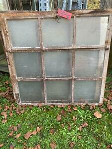 Gußeiserne Fenster - 7 Stk. vorhanden - mit Oberlicht - Maße ca. 100 x 100 cm