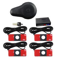 Original Professional Car Parking Sensor Buzzer Alarm System 4 Radars 13mm White