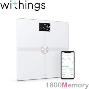 GENUINE Withings Nokia Body+ Composition BMI Wi-Fi Smart Scale 8 Users White