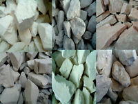Organic GRAY White BLUE YELLOW Clay chunks (lump) natural edible for eating 250g