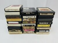 8 Track Tapes Lot of 25 Country Rock Pop Oldies Classical Blank Easy Listening